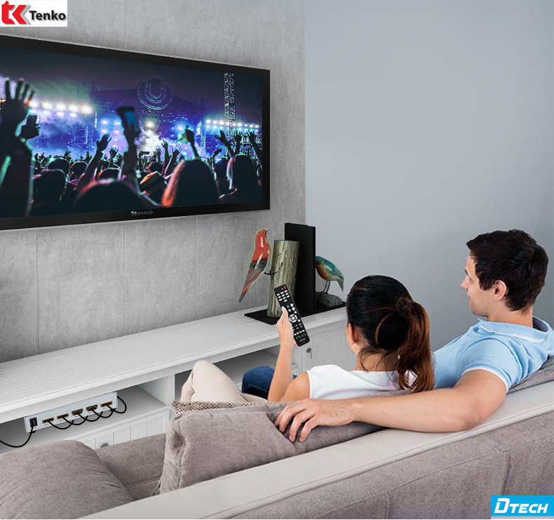 Bộ Chia HDMI 1 Ra 2 DTECH DT-7142 Chuẩn 4K