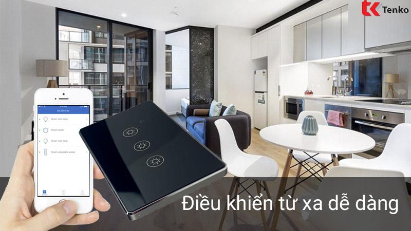 Công Tắc Điện Thông Minh Cảm Ứng Wifi TK-TMD-03