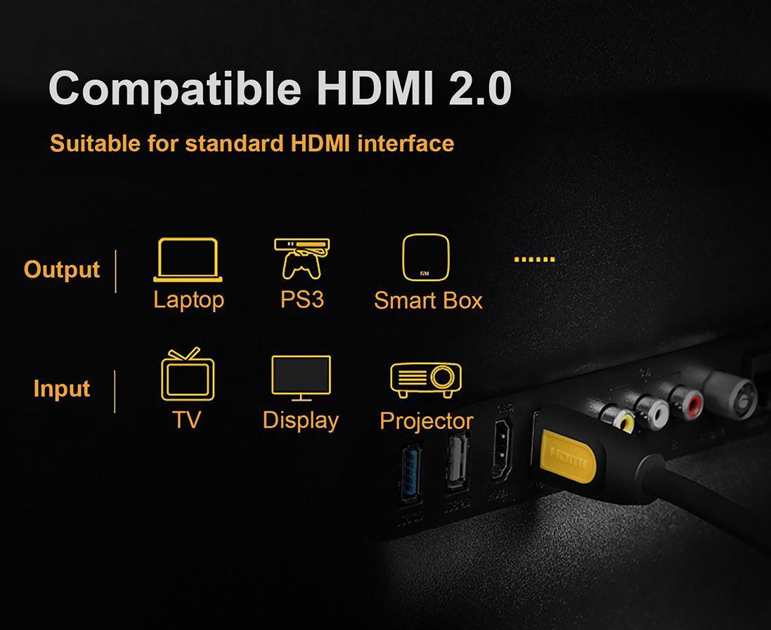 Cáp HDMI Ugreen 1M full HD 4Kx2K UG-10115