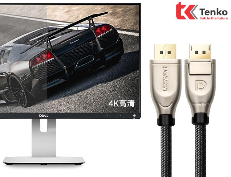 Cáp DisplayPort 10m Chuẩn 1.2 Ugreen 30124