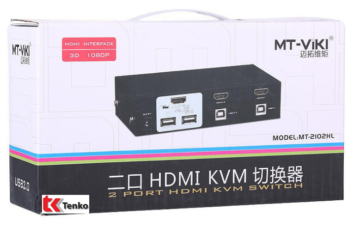 Bộ Switch KVM HDMI 2 Cổng USB MT ViKI MT-2102HL