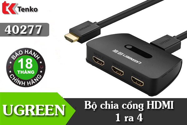 Bộ Gộp HDMI 3 In 1 Out Ugreen 40215