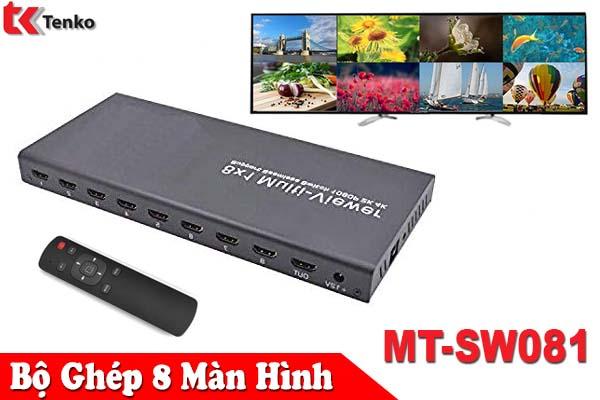 Bộ Gộp Switch HDMI 8 Vào 1 Ra MT-SW081