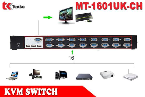 Bộ Gộp VGA KVM Switch 16 Vào 1 Ra MT-1601UK-CH