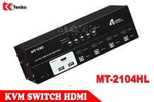 Bộ Switch KVM HDMI 4 Cổng USB MT-ViKI MT-2104HL