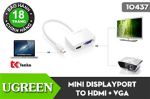 Cáp Mini Displayport to HDMI + VGA Ugreen UG-10427
